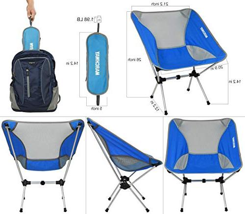MARCHWAY Chair, Portable Outdoor Picnic, Hiking, Lightweight Backpacking