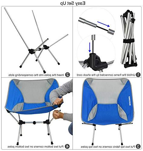 MARCHWAY Ultralight Folding Chair, Compact Outdoor Camp, Travel, Beach, Picnic, Festival, Lightweight
