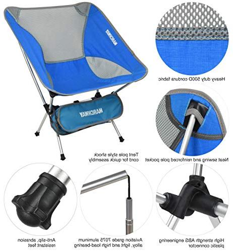 MARCHWAY Ultralight Chair, Outdoor Camp, Picnic, Festival, Hiking,