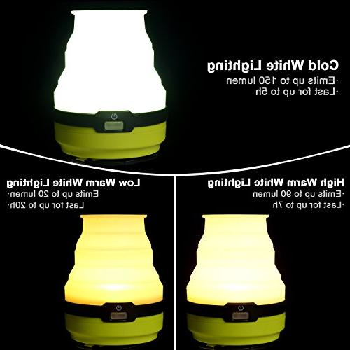 Odoland Rechargeable Lantern, Modes Collapsible LED Light, Ultra Tent - Camping Emergencies