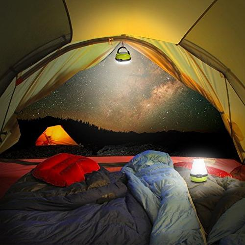 Odoland Rechargeable Lantern, Collapsible LED Lantern Emergency Light, Tent Light Camping Emergencies Outages