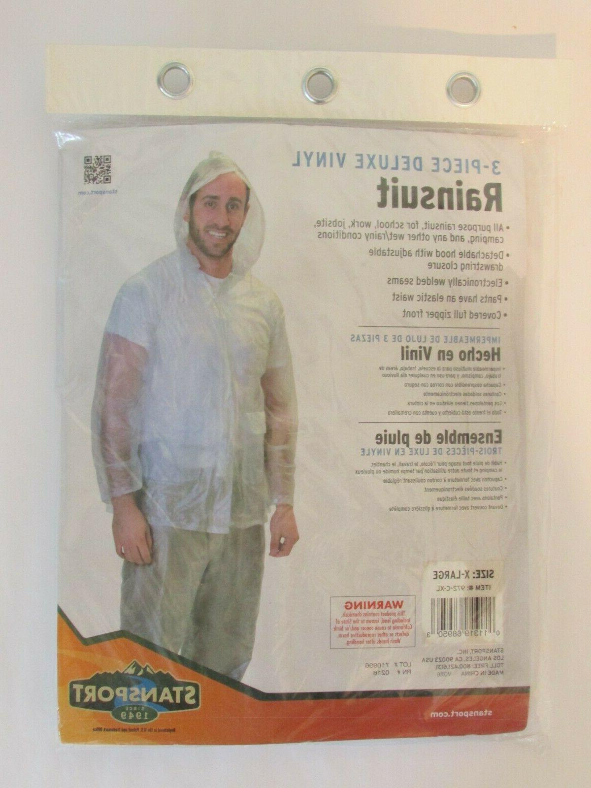 Stansport Mens Vinyl Rainsuit with Hood 108195 StanSport