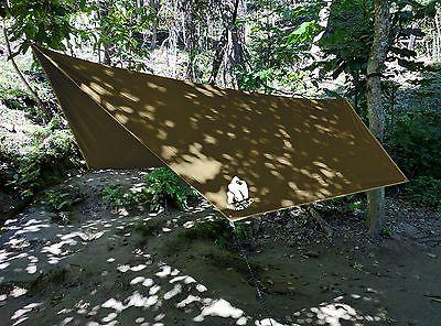 CHILL HEX RAIN Waterproof Shelter. Survival Stakes Lightweight. Easy to RIPSTOP Nylon. Color Coyote Sand