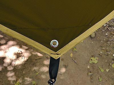 CHILL GORILLA HEX HAMMOCK RAIN TARP Waterproof Camping Essential Survival Lightweight. to RIPSTOP Nylon. Color Coyote Sand