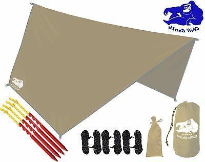 waterproof tan tent tarp