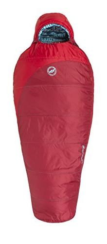 Big Agnes Wolverine 15 Kids' Synthetic Sleeping Bag, Red, Ri