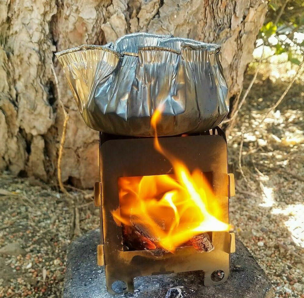 Wood Folding Survival Emergency Stove Gear