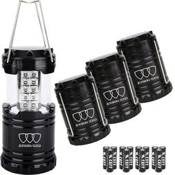 Gold Armour LED Lantern Camping Lanterns 4Pack - Camping Equ
