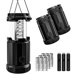 Etekcity Portable LED Camping Lantern Flashlight with AA Bat