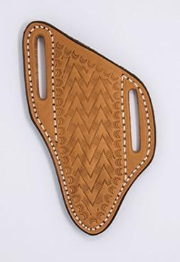 leather pancake crossdraw knife sheath