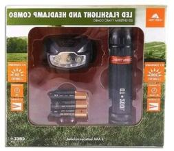Ozark Trail LED Flashlight & Headlamp Combo  50/200 Lumens C
