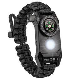A2S Protection LEDway Paracord Bracelet Tactical Survival Ge
