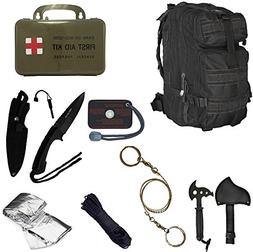 Ultimate Arms Gear Level 3 Assault MOLLE Black Backpack Kit;