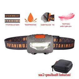 Lightest Headlamp Flashlight,Bright COB-LED Light,3-Mode Wat