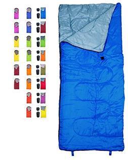 REVALCAMP Lightweight Blue Sleeping Bag Indoor & Outdoor use