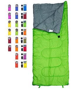 REVALCAMP Lightweight Green Sleeping Bag Indoor & Outdoor us
