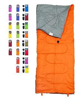 REVALCAMP Lightweight Orange Sleeping Bag Indoor & Outdoor u