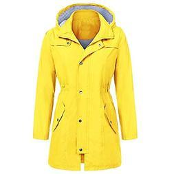 Dreamyth Women's Lightweight Rain Jacket Outdoor Long Sleeve