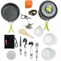 1 Liter Camping Cookware Mess Kit Backpacking Gear & Hiking