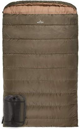 TETON Sports Mammoth 0F Queen-Size Double Sleeping Bag; Warm
