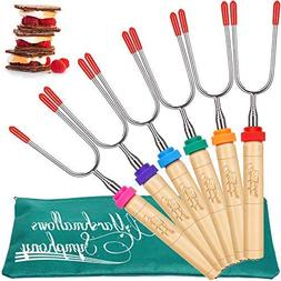 CARPATHEN Marshmallow Roasting Sticks - set of 6 Telescopic