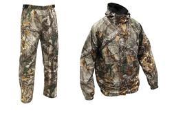 Men's Cold Bay Rain Gear RealTree Xtra Jacket & Pants Set Hu