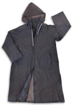 Stansport Men's Vinyl Raincoat with Hood, Smoke, Small