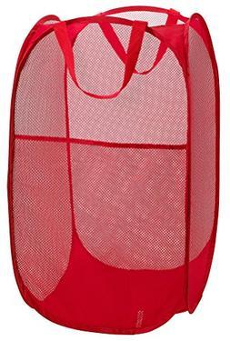 Mesh Popup Laundry Hamper - Portable, Durable Handles, Colla