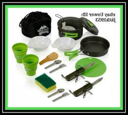 EcoCamp OUTDOOR GEAR Mess Kit  for Camping w/Cookware Set Pl
