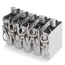 5 Pcs Metal Matchbox Lighter Gas Oil Fire Starter with Keych