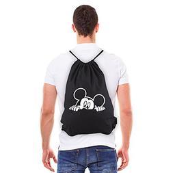 Mickey Mouse Peeking Eco-Friendly Reusable Drawstring Bag 6