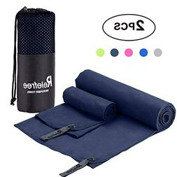 "Relefree Microfiber Towel 60""X30"" Travel Sports Gym Towel, F"