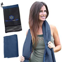 Microfiber Travel Towel - Best Beach, Sports, Camping, Yoga,
