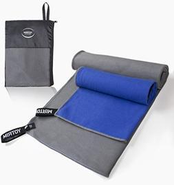 Microfiber Towels by Yotrim for Sports, Gym, Travel, Yoga, C