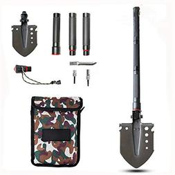DYHQQ Military Folding Shovel Multitool - Compact, Ultraligh