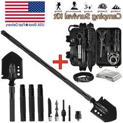 Military Folding Shovel Survival Gear Kit Outdoor Tactical C