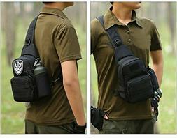 Military Gear Tactical Sling Backpack Shoulder Strap Carry C