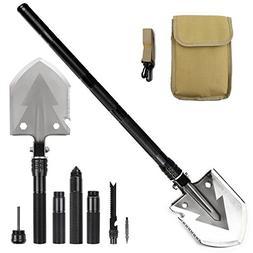 Military Portable Folding Shovel Alloy Anti-slip Handle Entr