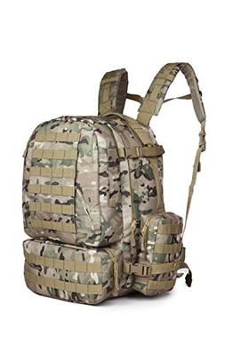 50 - 60 L Sport Outdoor Military Rucksacks Tactical Molle Ba
