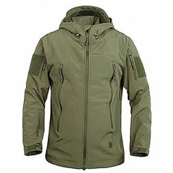 TACVASEN Men's Military Softshell Tactical Jacket Hooded Fle