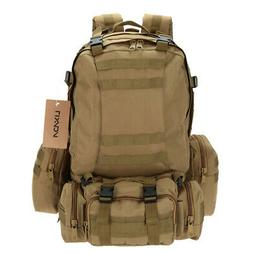Military Tactical Backpack Pack Assault-Army Molle Bug Out B