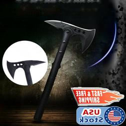 Military Tactical Hatchet Axe Fixed Blade Outdoor Camping Hu