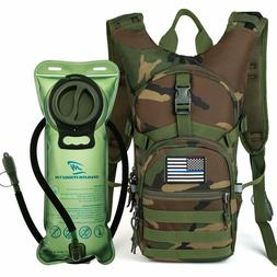 Military Tactical Hydration Backpack Pack With 2L Bladder Mo