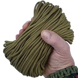 MilSpec Paracord COYOTE BROWN 498, 110 ft. Hank, Military Su
