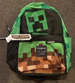 JINX Minecraft Creepy Creeper Kids Backpack  for School, Cam