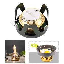 Overmont Mini Alcohol Stove Backpack Stove Outdoor Camping G