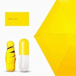 YJYdada Mini Pocket Compact Umbrella Sun Anti UV 5 Folding R