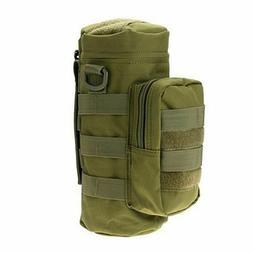 Molle Water Bottle Pouch Tactical Gear Kettle Waist Shoulder