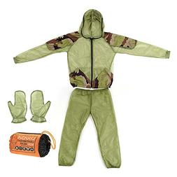 Lixada Mosquito Suit,Repellent Bug Jacket Mesh Hooded Suits