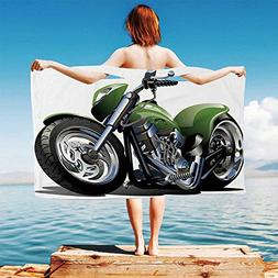 iPrint Motorcycle Quick Dry Plush Microfiber  Motorcycle-Des